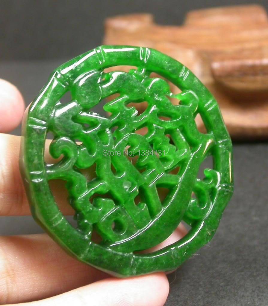Chinese green jade pendant bamboo zhao cai jin bao meaning money chinese green jade pendant bamboo zhao cai jin bao meaning money coming 236430 in pendants from jewelry accessories on aliexpress alibaba group aloadofball Images