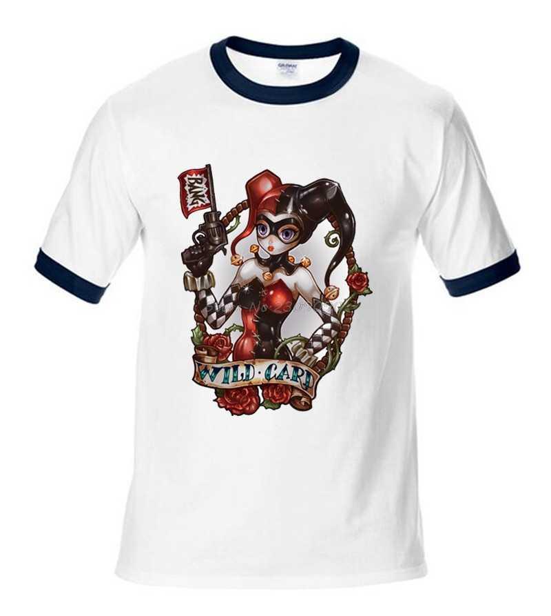 Футболка отряд самоубийц отряд героев Дэдпул Мужская хлопковая футболка Харли Квинн, Джокер топы мужская футболка с длинными рукавами
