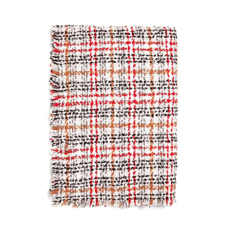 POBING New za Winter   Scarf   Women Tartan Plaid Cashmere   Scarves     Wraps   Wram Shawls Female Pashmina Lady Blanket Stoles Poncho