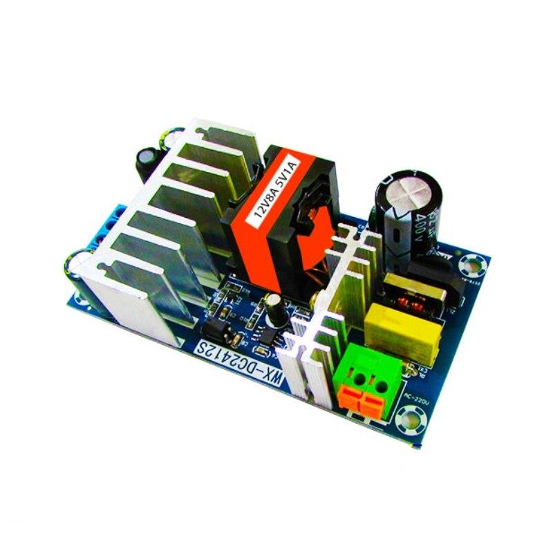 Salida Dual convertidor de CA 110v 220v a DC 12V 8A 5V 1A 100W de placa de alimentación fuente de alimentación para