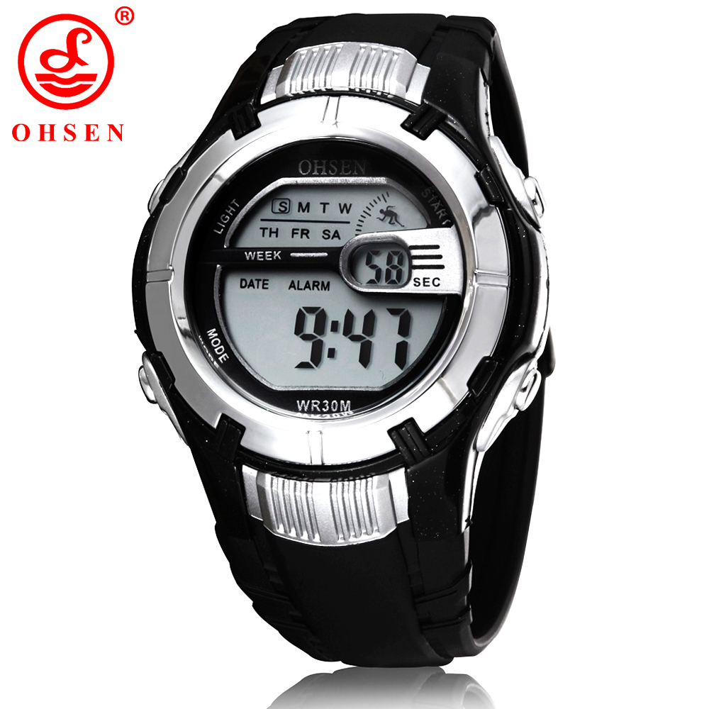OHSEN Boys Digital Sports Watch White Electronic Wrist ...