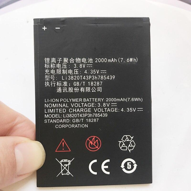 100% Neue Hohe Qualität 2000 Mah Li3820t43p3h785439 Batterie Für Zte Blade L3 Batterie Handy-akkus Knitterfestigkeit
