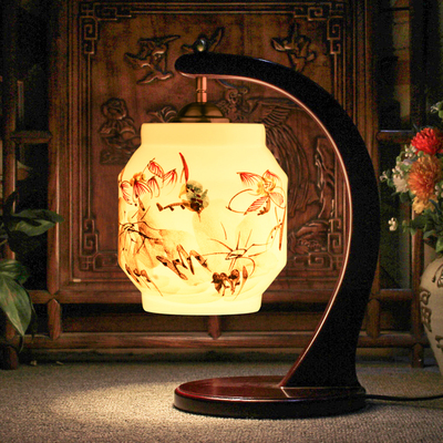 Small LED Table Lamp Wood Ceramic Lampshade Modern Living Room Bedroom Lamparas de Mesa E27 110-240V decorative table lamp vintage wood plastic rustic style brief modern lampshade living room bedroom 110 220v desk light 1936