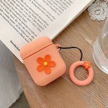 Fashion Cute Flower Soft Silicone Protective Cover Shockproof Case Skin for Airpods 1/2 Charging Box