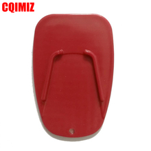 Universal Red Motorcycle Plastic Side Stand Motorbike Kickstand Non-slip Plate Extension Support Foot Pad Base