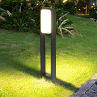 Beiaidi 현대 야외 정원 현관 잔디 램프 방수 빌라 광장 공원 울타리 볼라드 빛 안뜰 풍경 기둥 빛|잔디등|   -