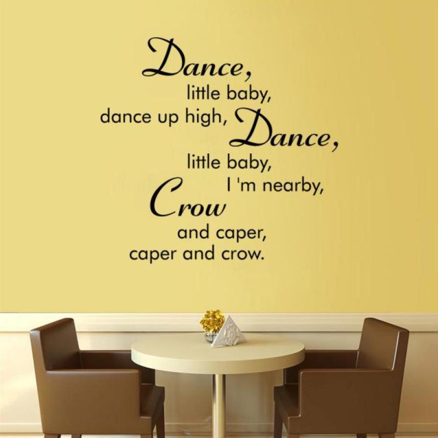 The wall sticker for living room bedroom home decor dance little ...
