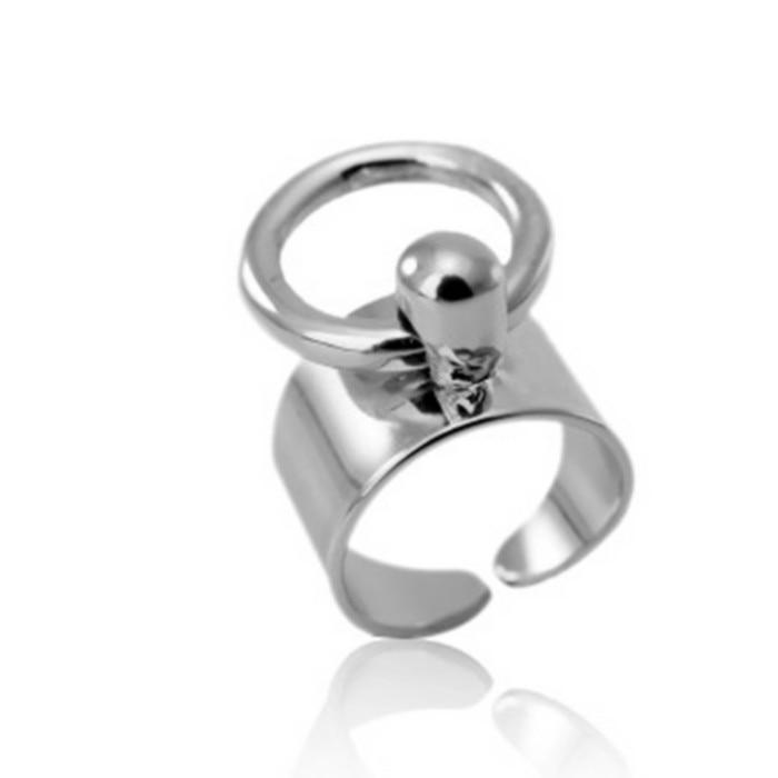 크기 조정 가능 도매 미니멀 바람 액세서리 반지 - 패션 쥬얼리 - 사진 2