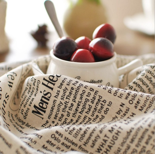 Американский Стиль печатные газеты хлопковые и льняные салфетки ткани один Слои одна сторона столовых 3031cd