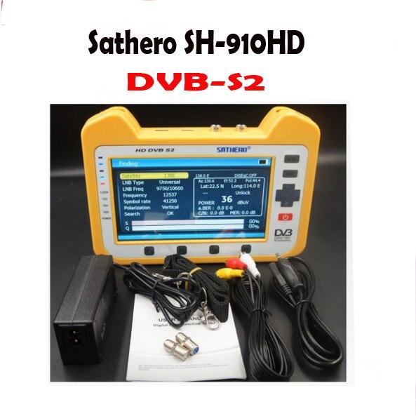 SH910 HD Sathero SH-910HD DVB-S2 Digital Satellite Finder Meter Satfinder HD with Real Time Spectrum Analyzer Function HD Outpu dvb s2 sathero sh 900hd satellite meter finder cctv in hd spectrum analyzer coaxial digital monitoring test function vs sh 910