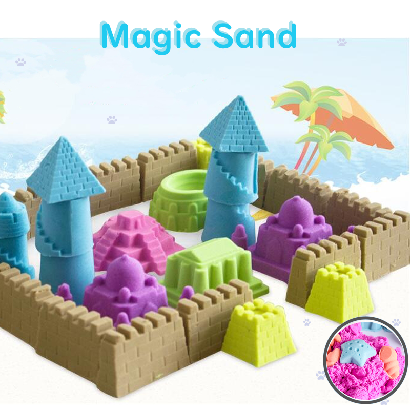 DIY Not Wet Magic Sand Toy Play Sand Water Modeling Sand Soft Magic Clay Colored Anti Stress Educational Toys For Kids 100g/bag