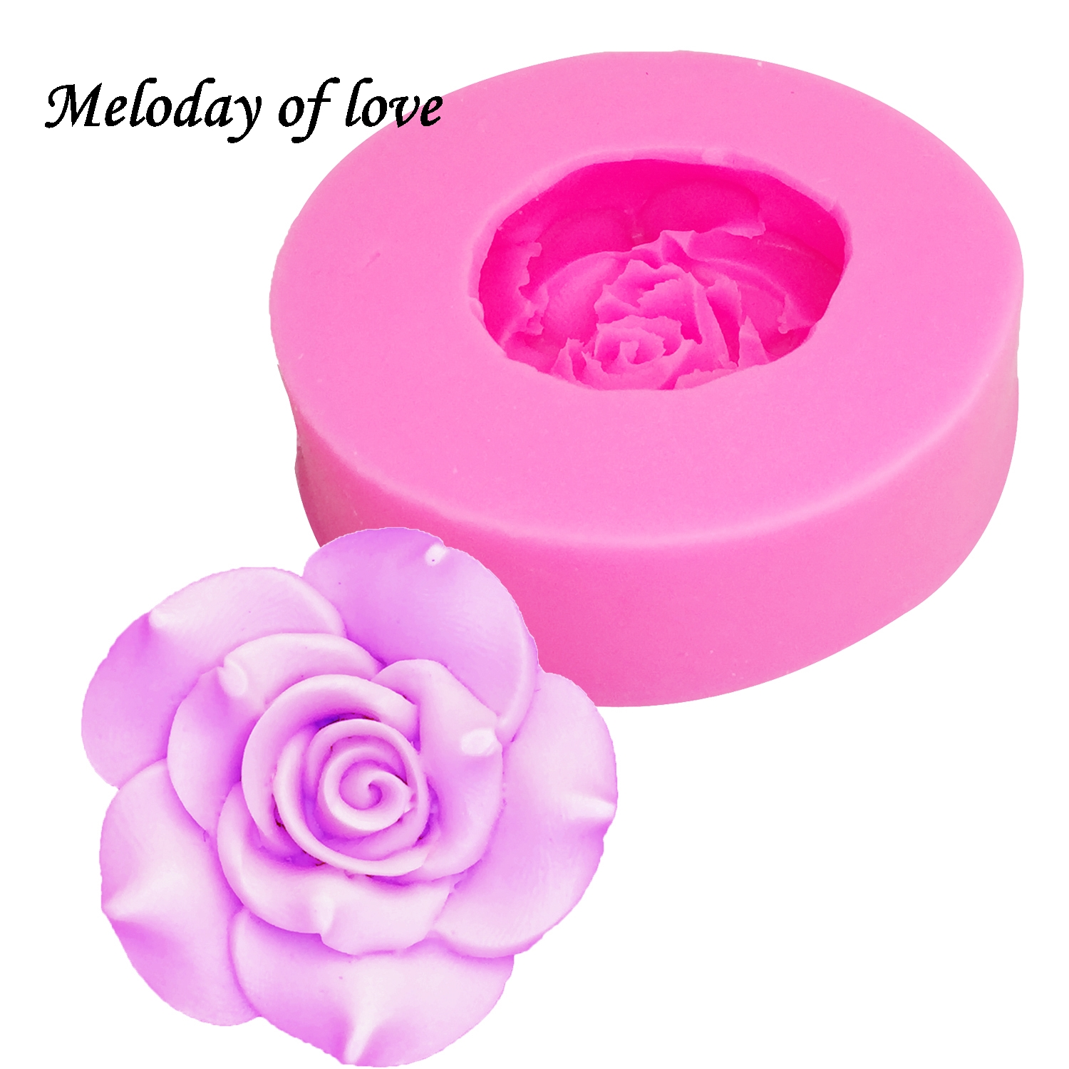 3D Beautiful Roses Chocolate Cake Decorating Tools DIY Fondant Silicone Mold Wedding Cake Decoration Flowers Soap Mold T0170