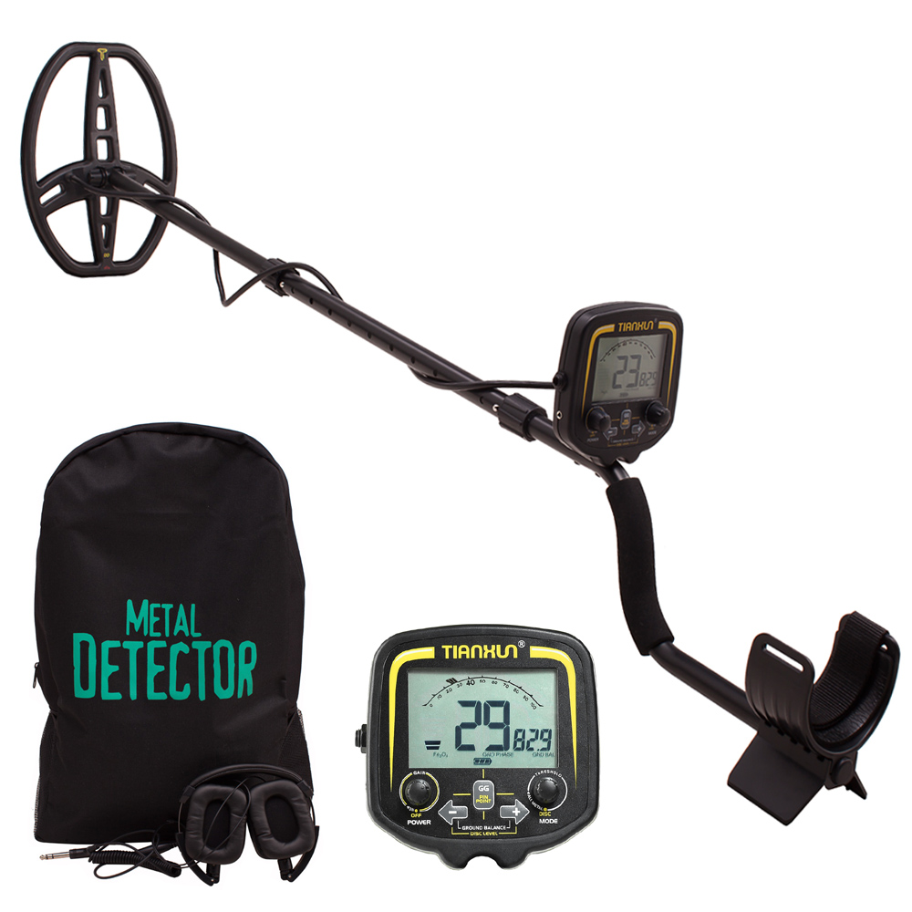 Profissional Metal Detecto TX850 Subterrânea Localizador de Profundidade 3.5 m Busca Scanner Detector de Ouro Treasure Hunter Que Detecta Pinpointer