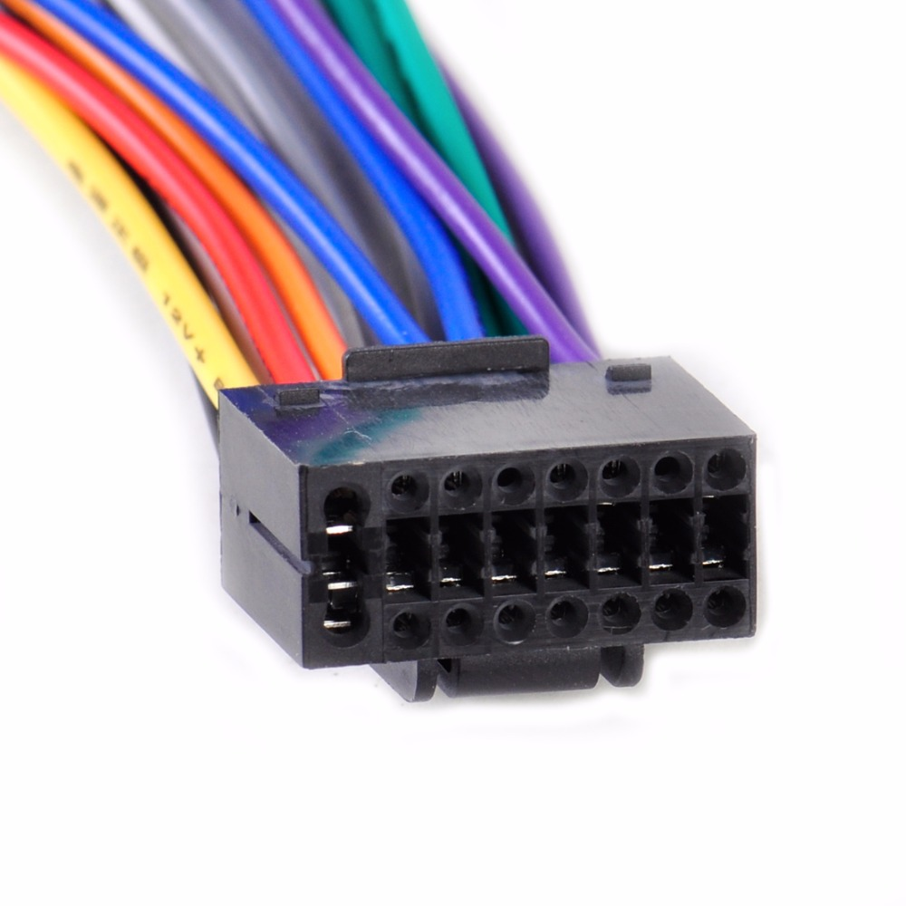 Buy Dwcx New Car Radio Stereo Wire Wiring Harness Plug Cd Player Adapter Cable Cord Fit For Kenwood With 16 Pin Connector From