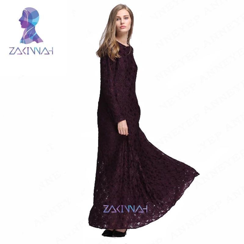 Vruće modne čipke plus size haljina turske ženske odjeće crne - Nacionalna odjeća - Foto 3