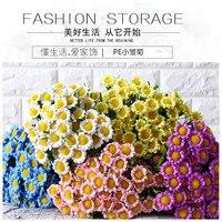 Darmowa Dostawa! 10 sztuk/partia Styl Duszpasterski 8 głowy Daisy Kwiat Bukiet Bukiet Kwiatów Symulacji Desk & Home Decor Zdjęcie rekwizyty