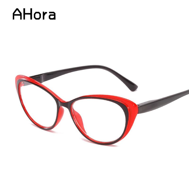Ahora Cat Eye Reading Glasses Women Men Unisex Lightweight Presbyopic Reading Glasses Male Diopter +1.0 1.5 2.0 2.5 3.0 3.5 4.0