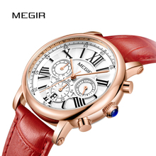 MEGIR Fashion Women Bracelet Watch Top Brand Luxury Ladies Quartz Watch Clock for Lovers Relogio Feminino Sport Wristwatch 2058 2017 new watch women top brand luxury famous fashion casual wristwatch quartz watch clock ladies dress watch relogio feminino