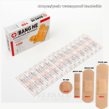 100Pcs/Pack Waterproof Band Aids Bandages First Aid Medical Anti Bacteria Wound Plaster Multi Size Home Travel Emergency Kits