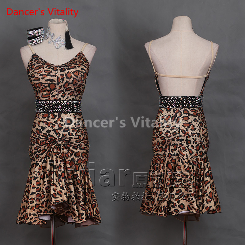 Custom made Latin Dance Dresses Diamond Sleeveless Design ...