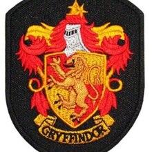 Гарри Поттер дом гриффиндорский герб эмблема вышитая Железная на патч Ретро аппликация Прямая поставка одежды применение