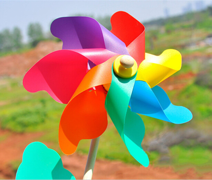 Classic Toys Solids Multicolors Wind Spinner Whirligig Garden Toy Windmill  Plastic Windmill Toy Children 18cm*45cm Party Decor In Party DIY  Decorations From ...