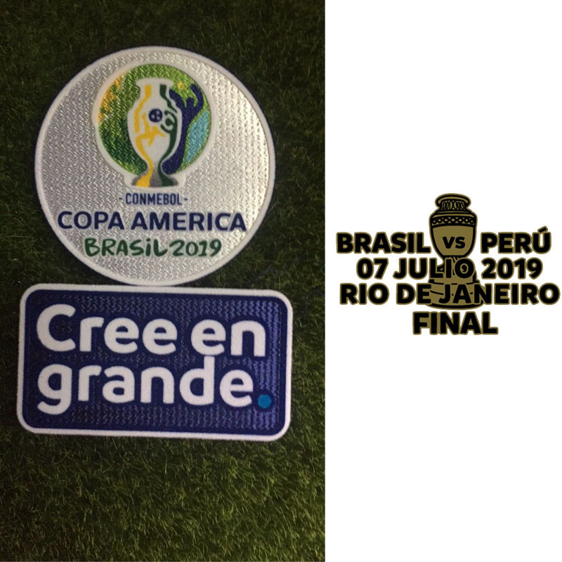 2019 Copa América Brasil Football Soccer Jersey Iron On Embroidered Patch Badge