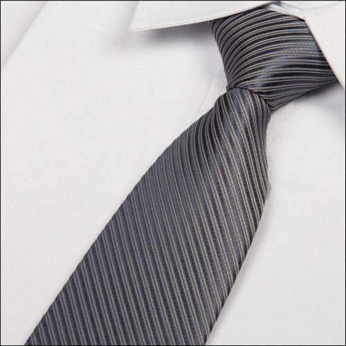 SHENNAIWEI 2016 New Gray Tie Silver Ties For Men 8 Cm Silk Necktie Striped Casual Dress Men Ties Designers Fashion Lot
