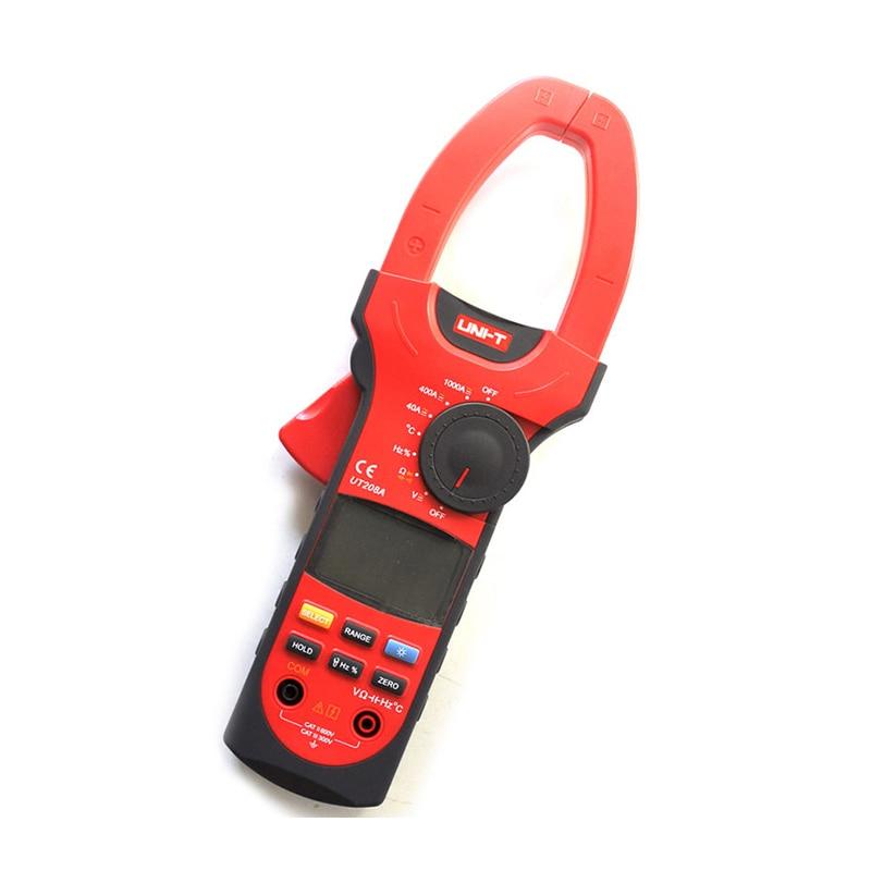 UNI-T UT208A Профессиональный автоматический/ручной диапазон цифровой зажим мультиметры w/емкость температура тест 1000A с ящиком для инструментов