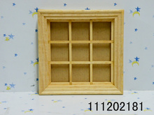 G06-X730 children baby gift Toy 1:12 Dollhouse mini Furniture Miniature rement wooden window 1pcs