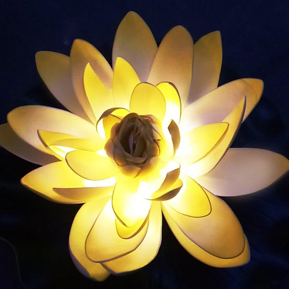 0 06w Solar Led Lotus Flower Lamp Water Resistant Light