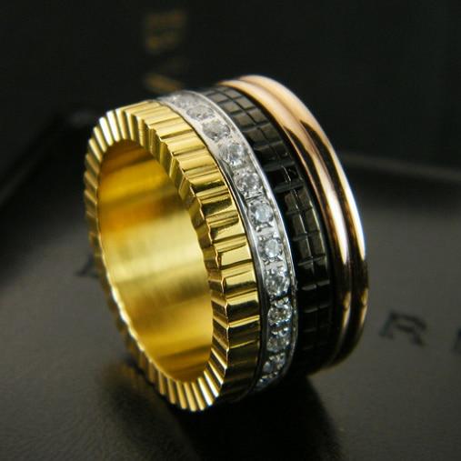 punk steel men ring Crystal Fashion titanium steel ring for women bear Jewelry men titanium rings jewelry steel punk love rings equte coo18c4s69 titanium steel cross love couple s ring black golden silver women 6 men 9