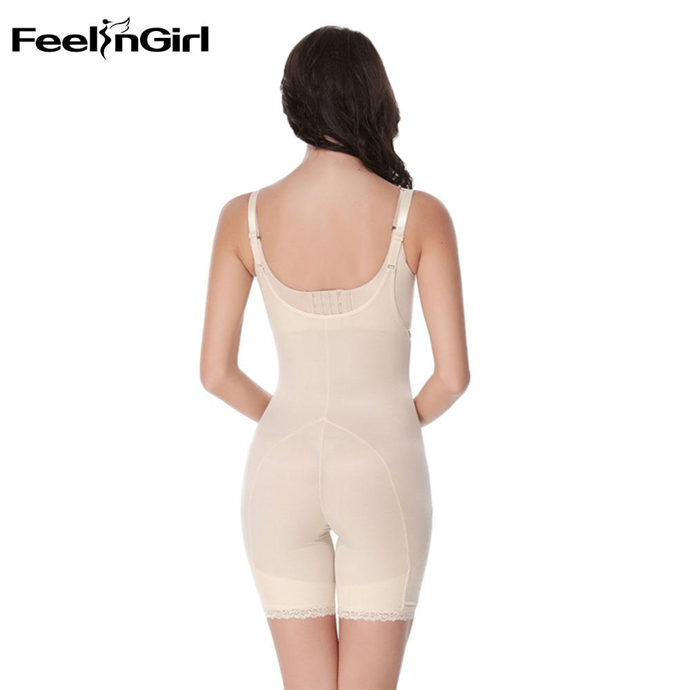 e95f7f073 FeelinGirl Full Body Shaper Zipper Push Up Bodysuit Women Slim Shapewear  Cinta Modeladora Weight Loss Underwear Waist Shaper C-in Bodysuits from  Underwear ...