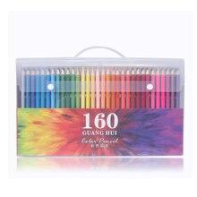 160 Colors Wood Colored Pencils Set Lapis De Cor Artist Painting Oil Color Pencil For School