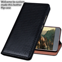 HY02 Luxury Genuine Leather Flip Coque Cover For Meizu 15 Plus(5.95') Phone Case For Meizu 15 Plus Phone Bag With Kickstand