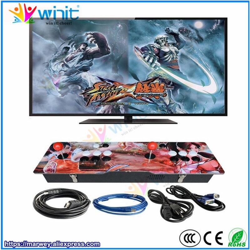 Marwey Pandora arcade game station console 1388 games acrylic metal box 2 players joystick street fighting TV, PC video output
