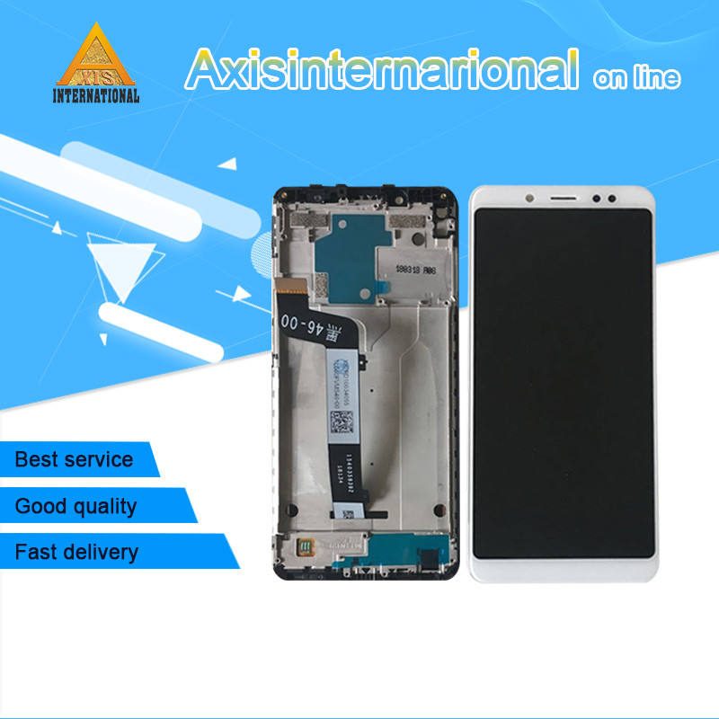 Original Axisinternational For 5.99 Xiaomi Redmi note 5 redmi note 5 pro LCD screen display+ Touch panel Digitizer with frame