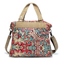 Bolso de la Lona de lujo Étnico Bordado Mariposa Crosscody Bolsa Floral Shopping Tote Bag Lady Messenger Bag bolsos mujer XA383C