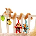 Cute Monkey Family Design Infant Baby Spiral Bed Stroller Plush Toy Kid Pram Crib Ornament Hangings toy for babies