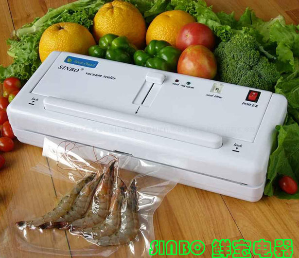Home Electric font b Vacuum b font Food Sealer Heat Sealing Machine Household Packing Sealers Food