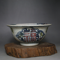 Rare Chinese MingDynasty porcelain bowl,white and blue,