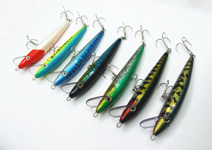 Big Minnow Bait Big Sea Fishing Lure with Chinese hooks Floating Two size 23cm/97g or 16.5cm/46g