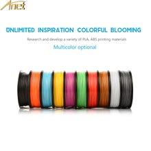 Anet 10 рулонов 0,5 кг PLA ABS 1,75 мм нити пластиковые стержни Резиновая лента расходные материалы для MakerBot/RepRap 3d принтера