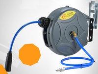 10 15m automatic retractable hose reel Choose gas/water/power/lamps. Suitable for car wash, production processing, repair shop