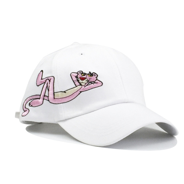 Cartoon Embroidered Pink...