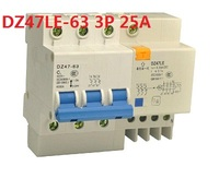 DZ47LE 63 3P 25A Electric Shock Protection Switch Leakage Circuit Breaker