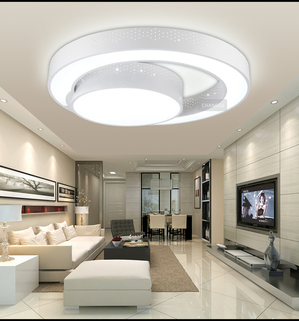 30W 45CM Modern Ceiling Light Brief Circle Q Shape For Living Room Bedroom 85