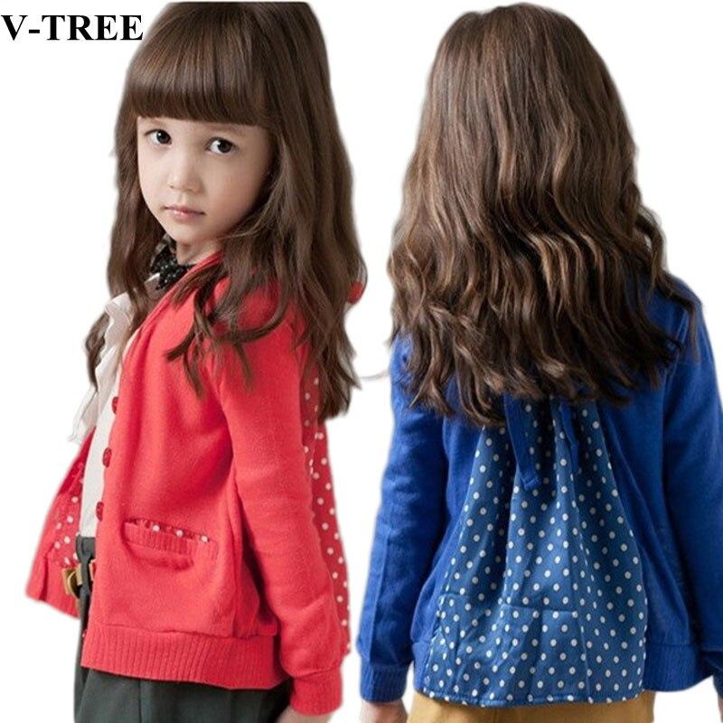 Auschecken 737e6 31eba US $10.0 16% OFF V TREE Mädchen Mantel Strickjacke Jacke Für Mädchen  Blau/rot Kinder Oberbekleidung Bolero Für Mädchen Kinder Windjacke-in  Jacken & ...