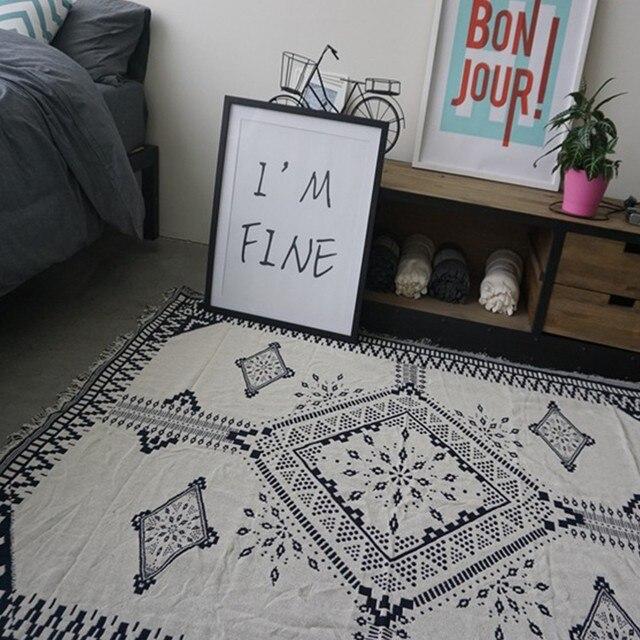 Yazi Mode 100% Baumwolle Teppich Decke Zwei Verschiedene ...