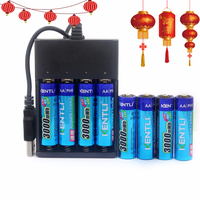 8pcs 1 5v 3000mWh No Memory Effect Aa Rechargeable Li Polymer Li Ion Polymer Lithium Battery
